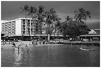 King Kamehameha Kona Beach Hotel, Kailua-Kona. Hawaii, USA (black and white)