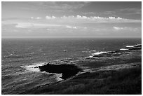 Coastline. Big Island, Hawaii, USA (black and white)