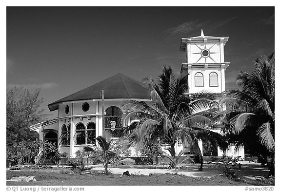 Church of Luma. American Samoa (black and white)
