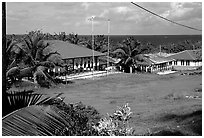 Village of Fitiuta. American Samoa (black and white)