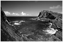 Maamaa cove. Aunuu Island, American Samoa (black and white)