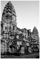 Inner towers of Angkor Wat. Angkor, Cambodia ( black and white)