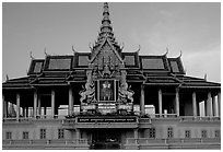Chan Chhaya Pavilion, Royal palace. Phnom Penh, Cambodia (black and white)