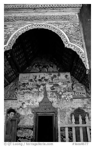 The Wat of Ban Xan Hai. Laos (black and white)