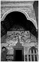 The Wat of Ban Xan Hai. Laos ( black and white)