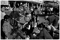 The Huay Xai market. Laos ( black and white)