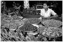 Food vendor. Mandalay, Myanmar ( black and white)