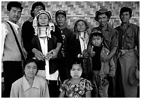 Padaung people, Kalaw. Shan state, Myanmar ( black and white)