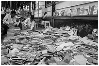 Used books for sale. Yangon, Myanmar ( black and white)