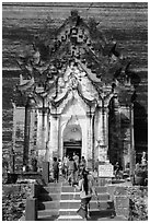 Mingun Pagoda entrance, Mingun. Myanmar ( black and white)