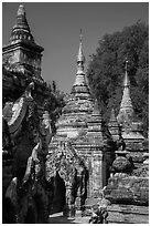 Ancient temples, Ava. Myanmar ( black and white)