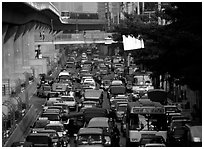 Rush hour. Bangkok, Thailand (black and white)