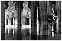 Palace interior. Muang Boran, Thailand ( black and white)
