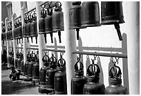 Bells at Wat Phra That Doi Suthep. Chiang Mai, Thailand ( black and white)