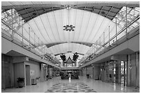 New Bangkok international airport. Bangkok, Thailand (black and white)