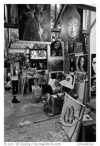 Black And White Art Studio