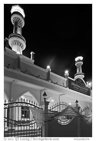 Al-Islah mosque, Ko Phi-Phi Don. Krabi Province, Thailand (black and white)