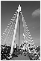 Golden Jubilee Bridge. London, England, United Kingdom ( black and white)