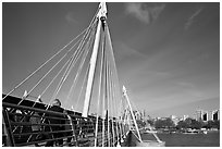 Golden Jubilee Bridge. London, England, United Kingdom (black and white)