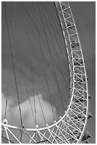 Detail of the London Eye. London, England, United Kingdom ( black and white)