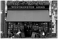 Famous pub Westmister Arms. London, England, United Kingdom (black and white)