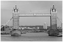 Tower Bridge, late afternoon. London, England, United Kingdom (black and white)