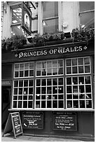 Pub the Princess of Wales. London, England, United Kingdom (black and white)