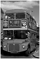 Routemaster double decker bus. London, England, United Kingdom ( black and white)