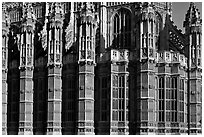 Architectural detail, Westminster Abbey. London, England, United Kingdom ( black and white)