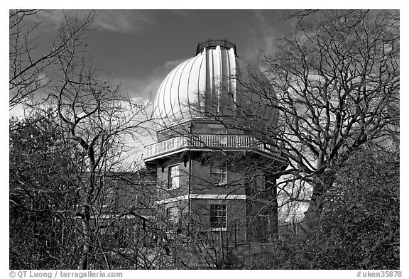 Royal Observatory. Greenwich, London, England, United Kingdom (black and white)