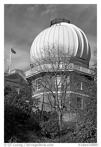 Royal Greenwich Observatory. Greenwich, London, England, United Kingdom (black and white)