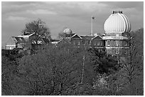 Royal Observatory,  the first purpose-built scientific research facility in Britain. Greenwich, London, England, United Kingdom ( black and white)