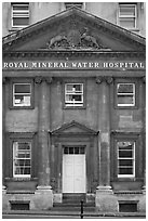 Royal mineral water hospital. Bath, Somerset, England, United Kingdom (black and white)
