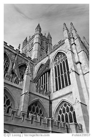 Bath Abbey tower. Bath, Somerset, England, United Kingdom