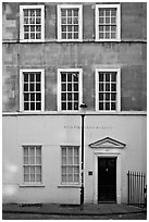 Residential facade. Bath, Somerset, England, United Kingdom ( black and white)