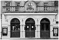 Royal Theatre facade. Bath, Somerset, England, United Kingdom (black and white)