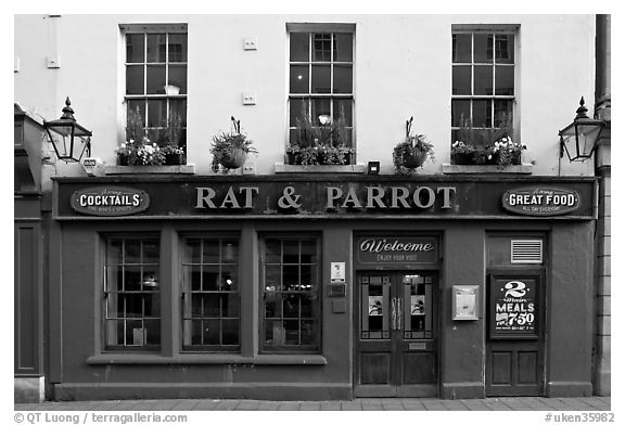 Facade of restaurant and pub. Bath, Somerset, England, United Kingdom