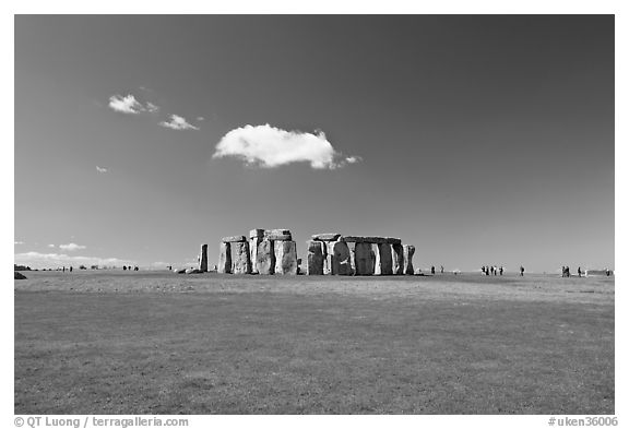 Circle of megaliths standing on the Salisbury Plain, Stonehenge, Salisbury. England, United Kingdom