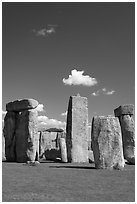 Megaliths, Stonehenge, Salisbury. England, United Kingdom (black and white)