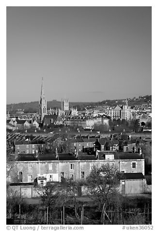 City center, early morning. Bath, Somerset, England, United Kingdom (black and white)