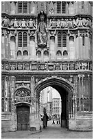 Christ Church Gate (Cathedral precincts main entrance). Canterbury,  Kent, England, United Kingdom ( black and white)