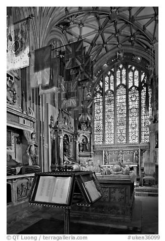 Memorial Book of Names, a page of which is turned daily  in the St Michael Chapel, Canterbury Cathedral. Canterbury,  Kent, England, United Kingdom (black and white)