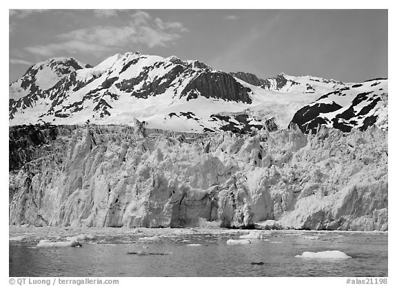Front of Surprise Glacier. Prince William Sound, Alaska, USA