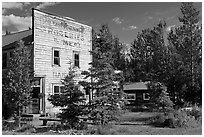 Old hardware store bulding. McCarthy, Alaska, USA ( black and white)
