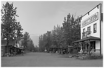 Main street. McCarthy, Alaska, USA ( black and white)