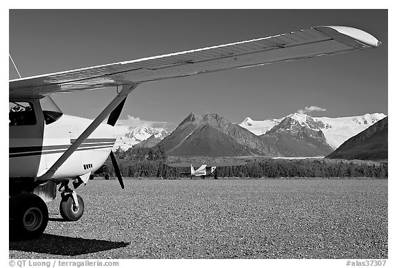 Mc Carthy airport. McCarthy, Alaska, USA