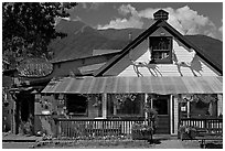 McCarthy lodge. McCarthy, Alaska, USA (black and white)