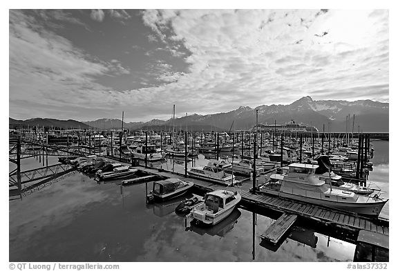 Small boat harbor, morning. Seward, Alaska, USA
