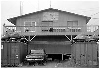Bush store in Kiana. North Western Alaska, USA ( black and white)