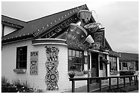 Cafe. Homer, Alaska, USA ( black and white)